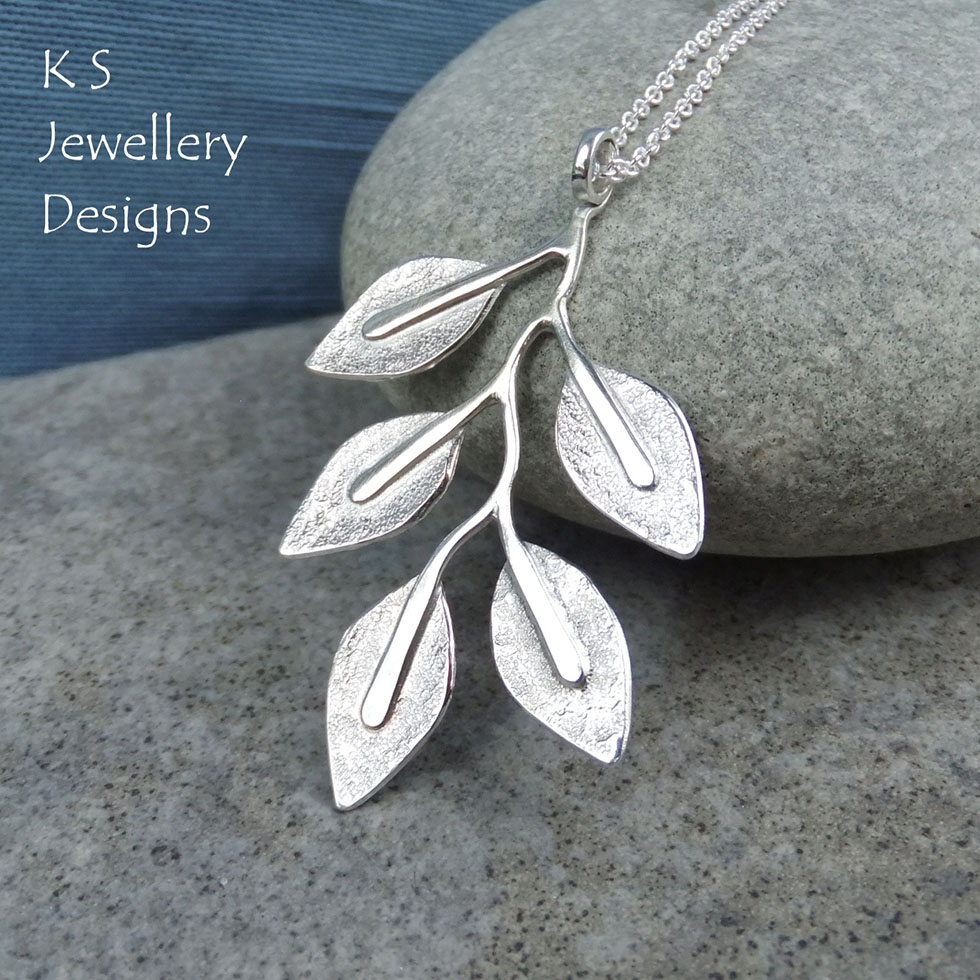 Sterling Silver Branch Pendant by KS Jewellery Designs