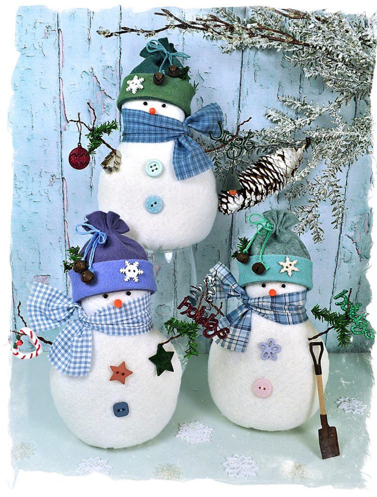 Snowy Friends Snowman Felt Pattern by Raggy Dolls Craft Supplies