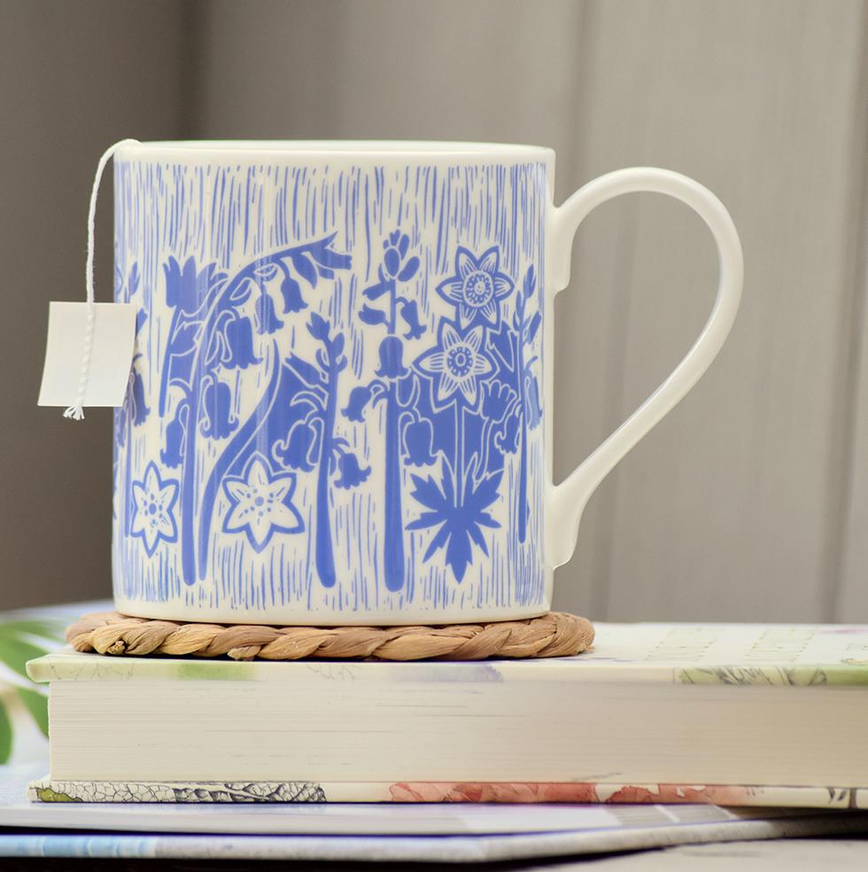Bluebell Mug by Hannah Madden