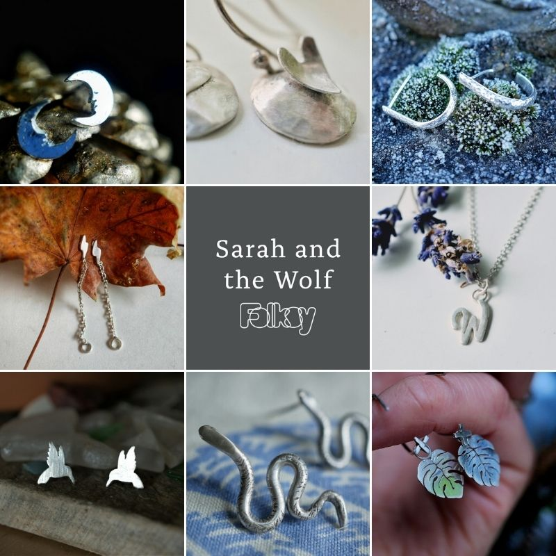 Sarah and the Wolf Jewellery on Folksy