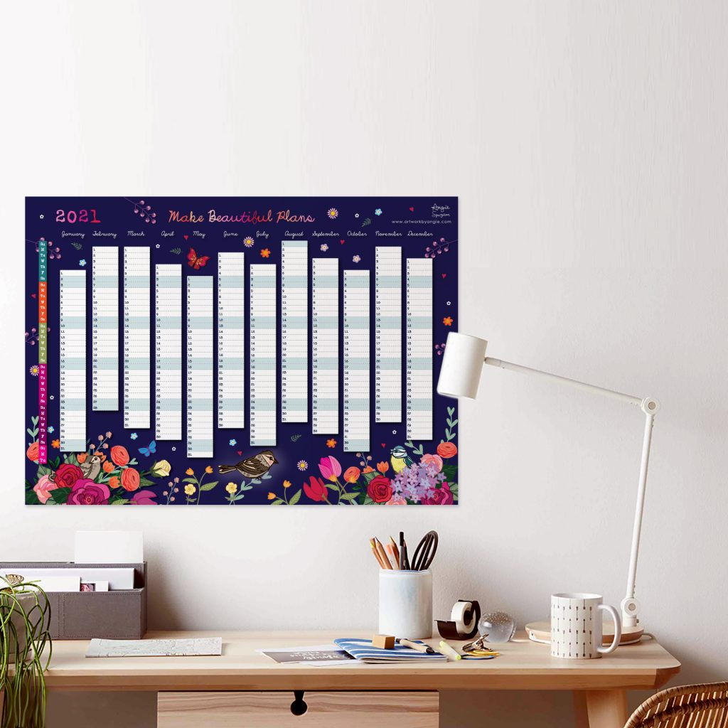 Year Wall Planner by Artwork by Angie
