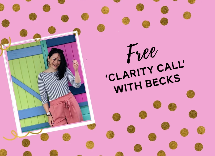 free clarity call with Becks from The Helpful Hustle