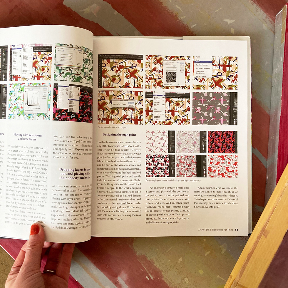 Screenprinting on Textiles by Sue Westergaard - book review