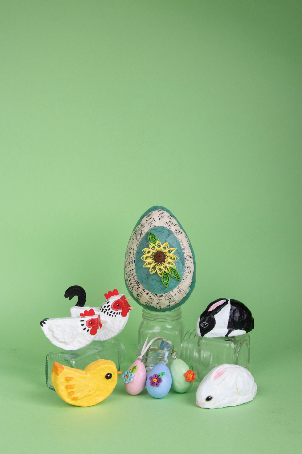 Annie Stothert paper mache easter decorations