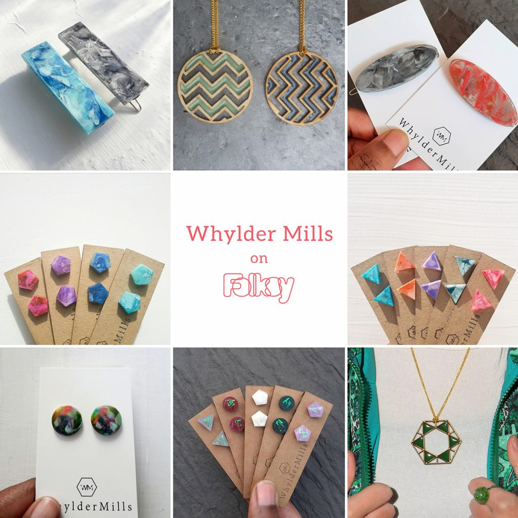 Whylder Mills colourful resin jewellery