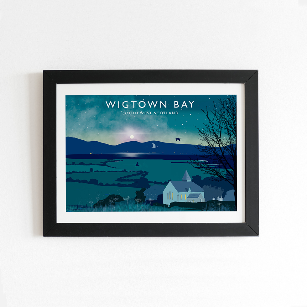Travel posters Wigtown Bay Scotland