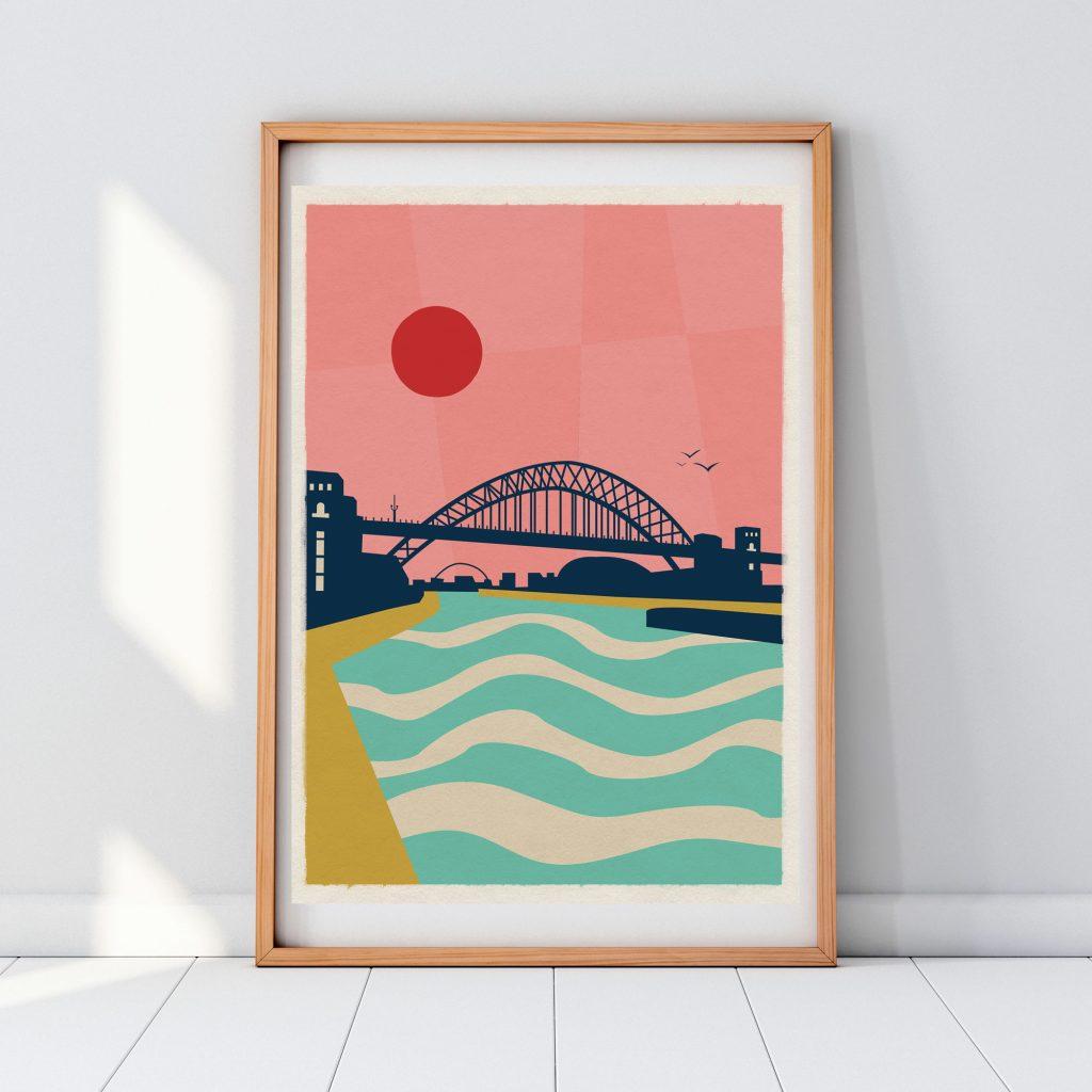 Travel posters Tyne Bridge Newcastle