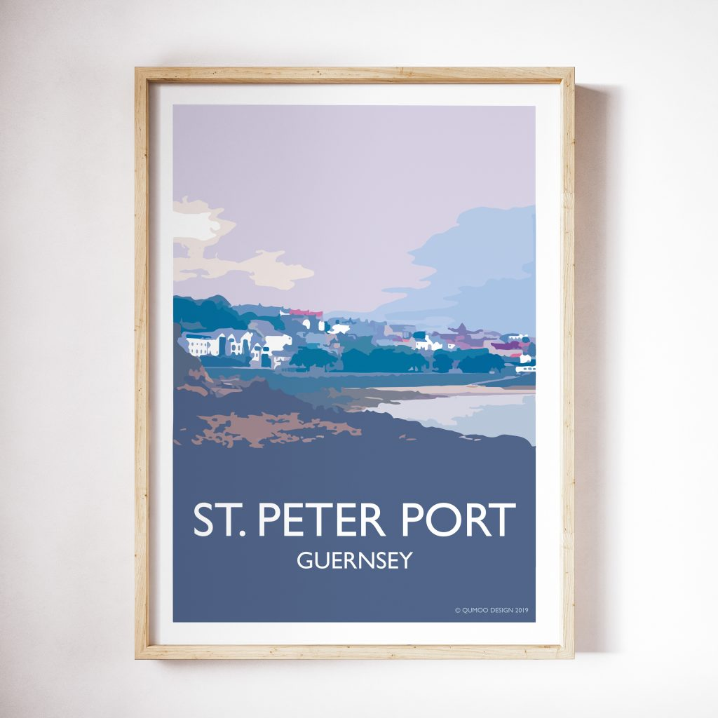Travel posters guernsey channel islands