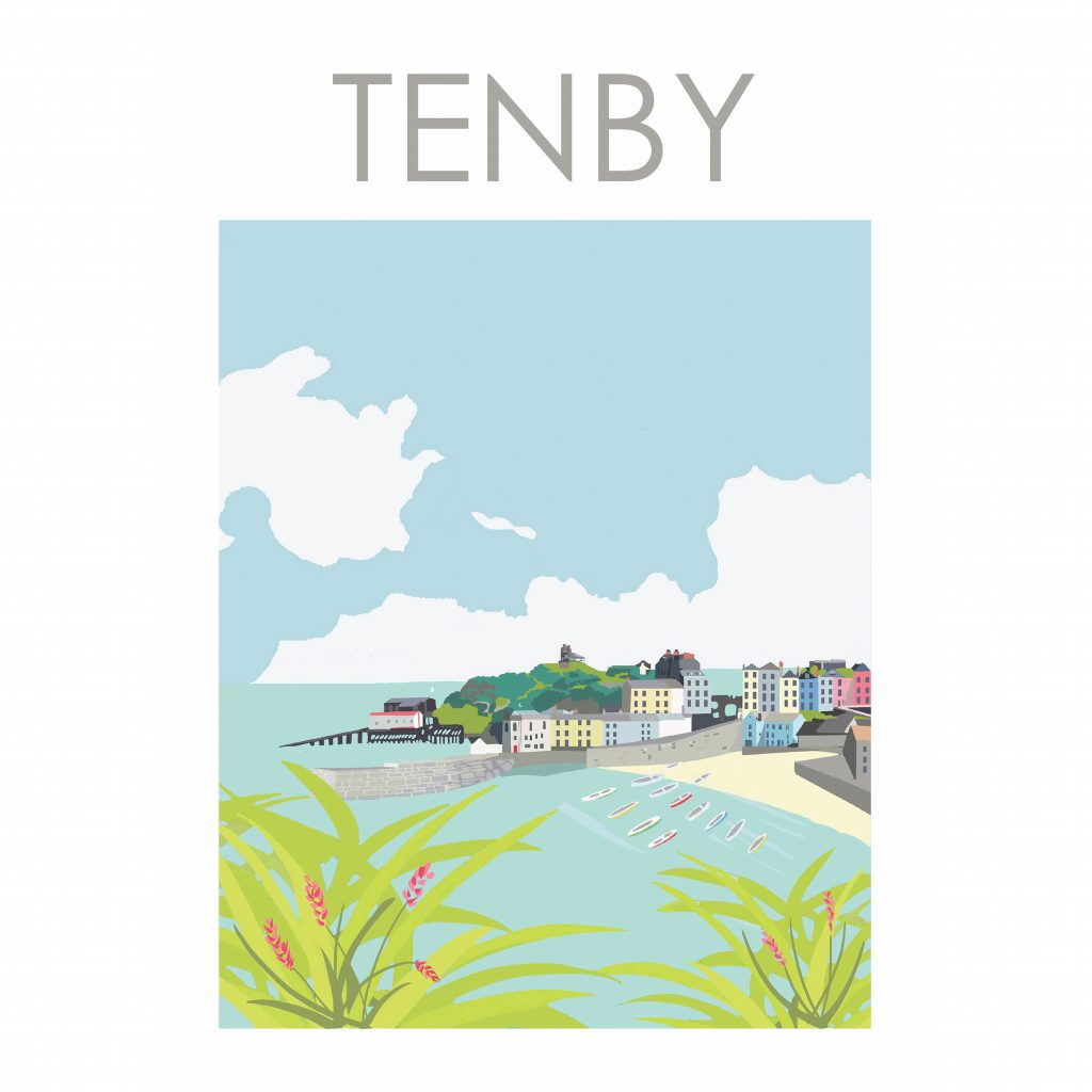 Travel posters Tenby Wales