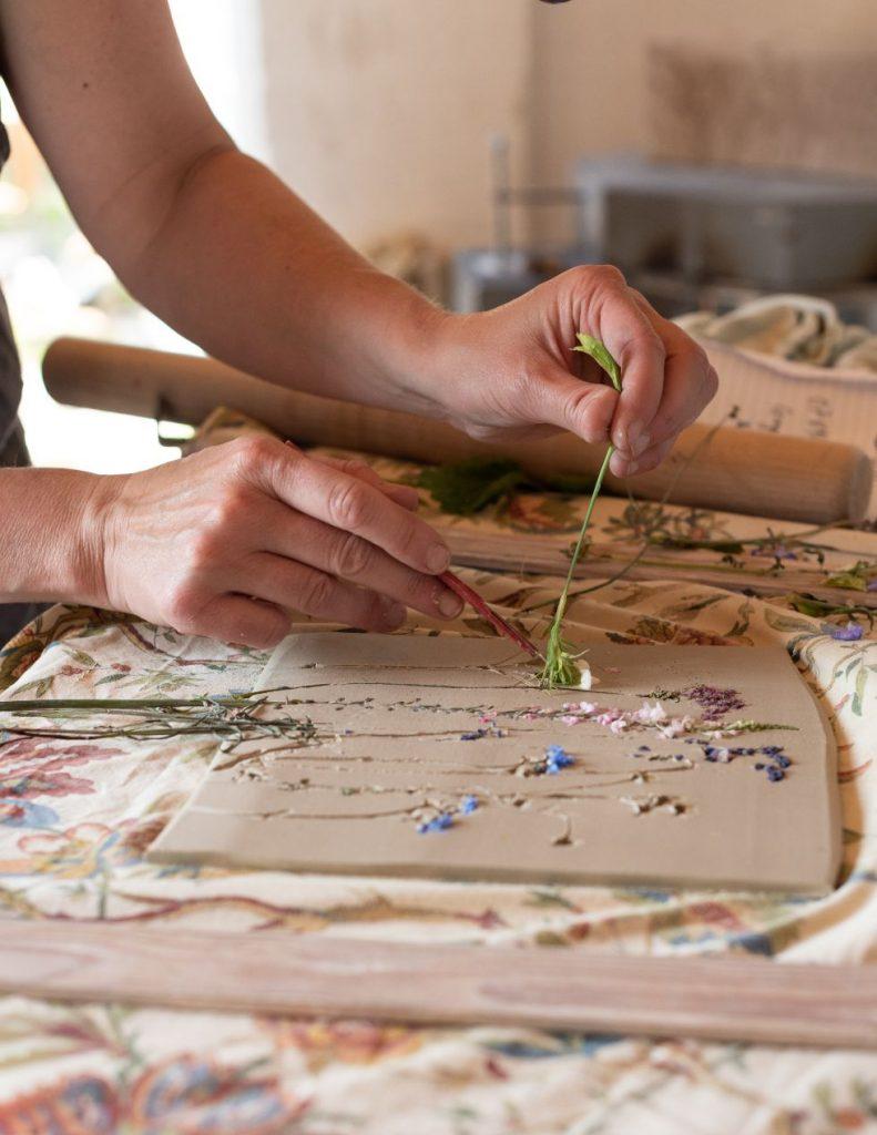 Work in progress by Louise Condon, Ceramic Botanist