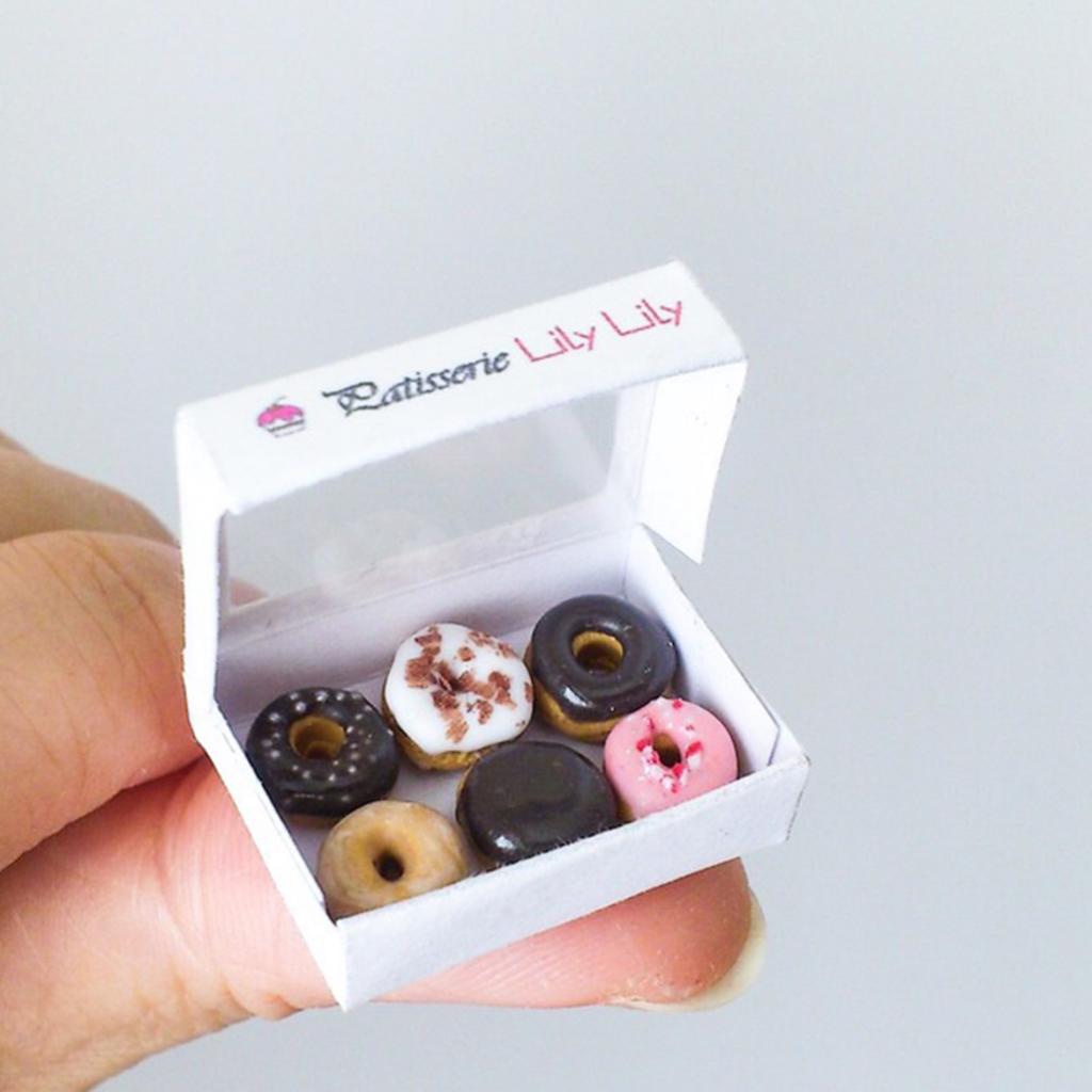 Dolls house food miniature donuts