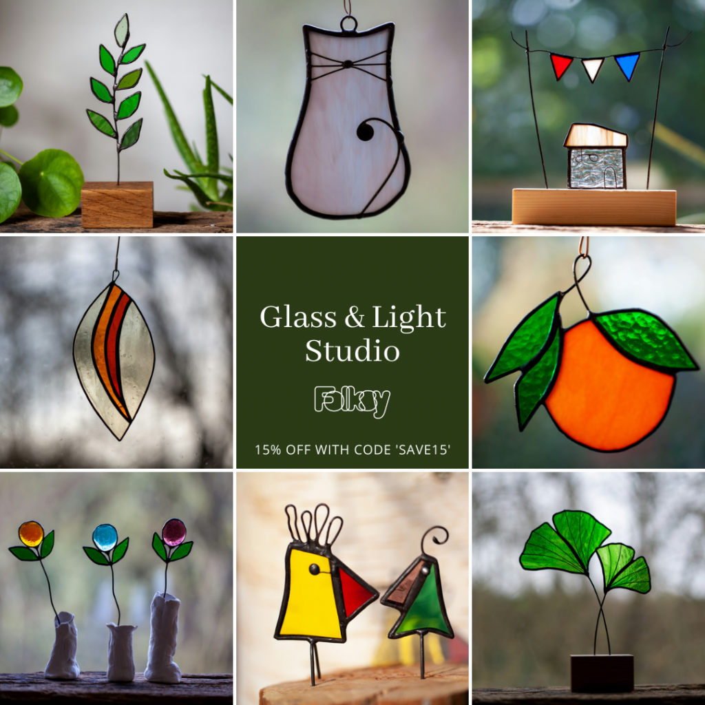 Glass and Light Studio stained glass maker on Folksy