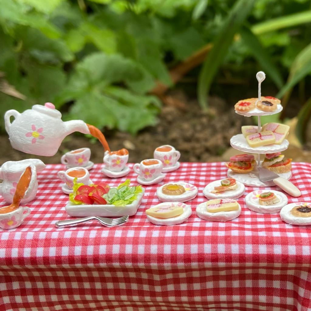 Dolls house tea party set