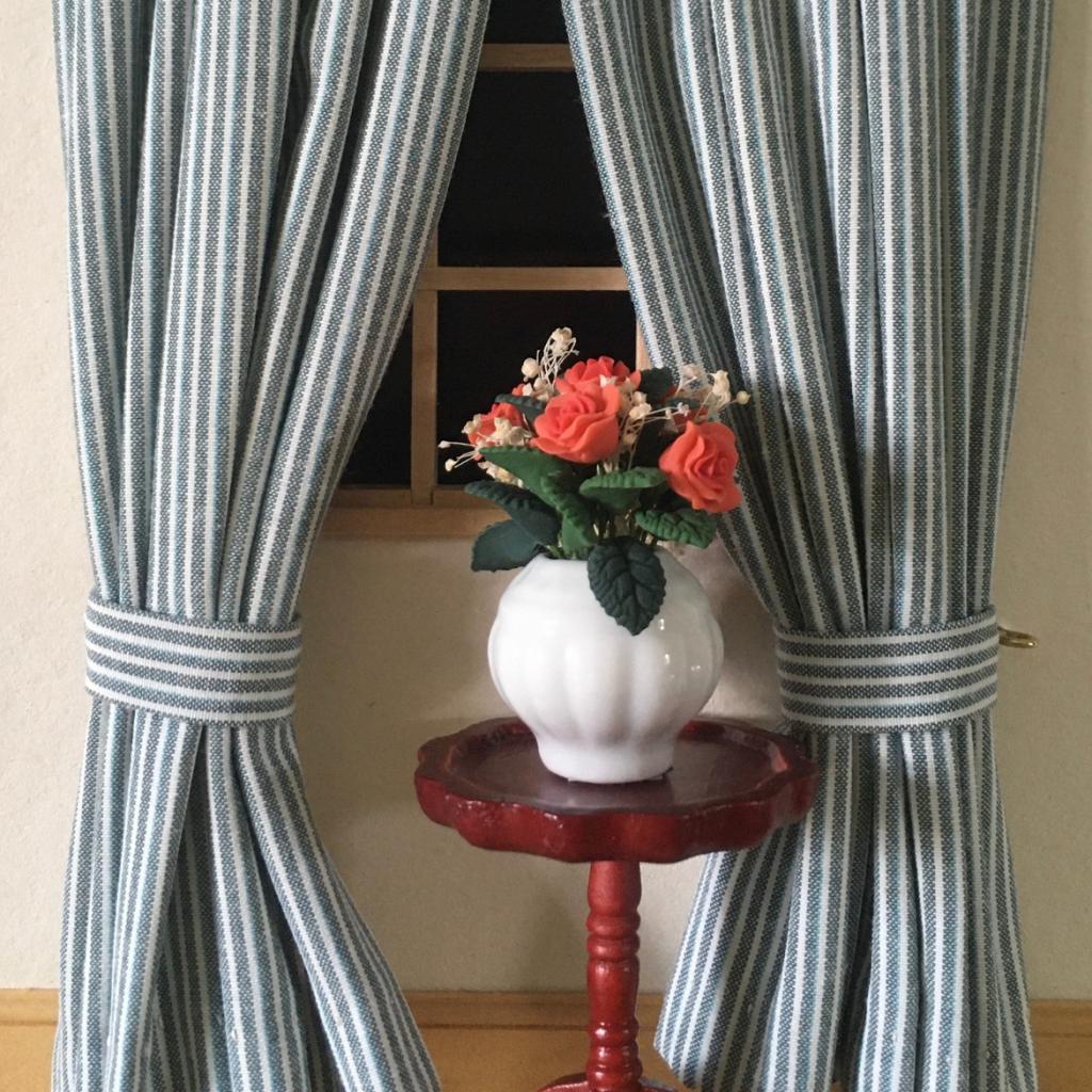 handmade dolls house curtains