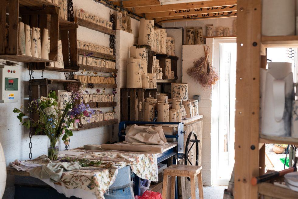 Pottery studio of Louise Condon, Ceramic Botanist