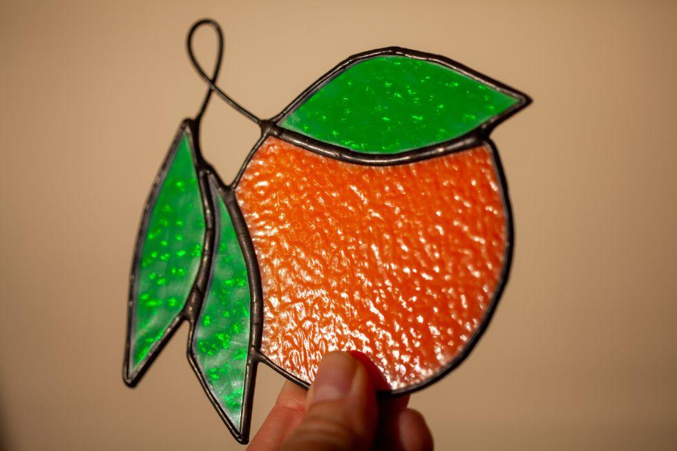 Orange suncatcher stained glass